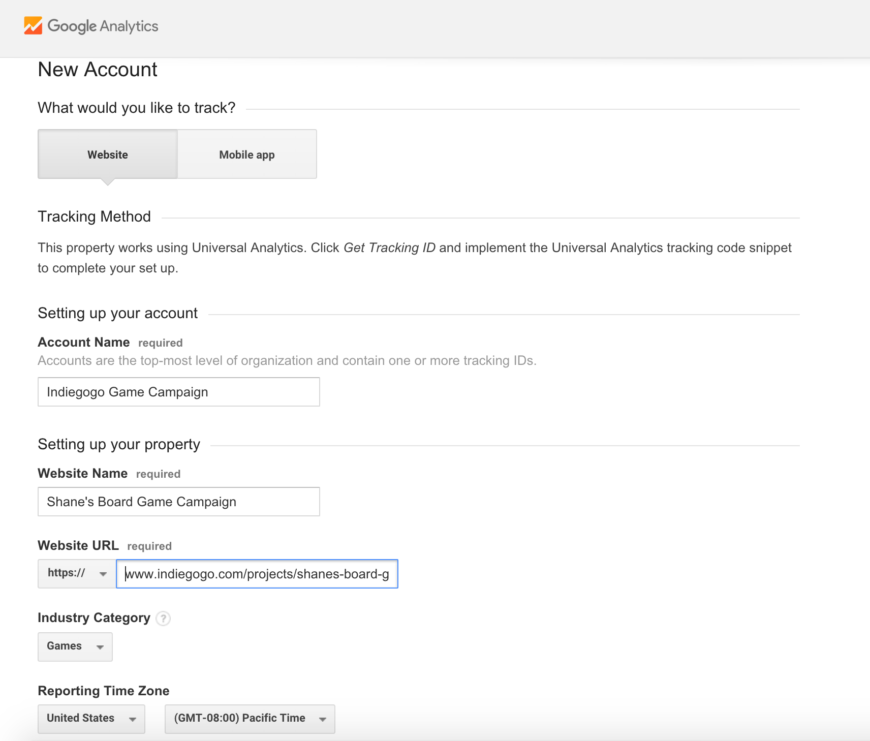 Google Analytics and Your Campaign – Indiegogo Help Center