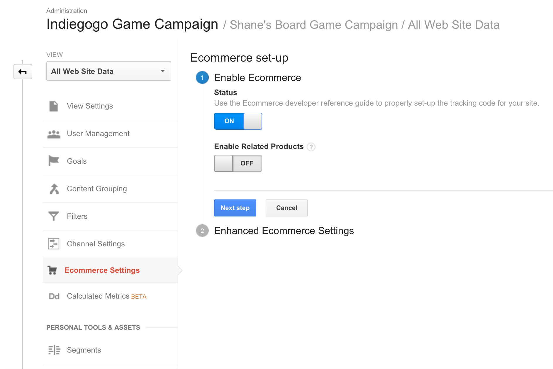 Google Analytics And Your Campaign Indiegogo Help Center