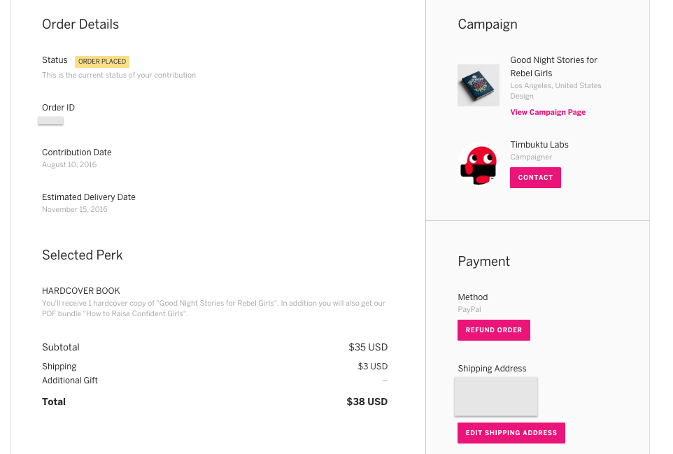 How to process a refund indiegogo help center if the order is eligible for a refund per our refund policy you will see a refund order button click that button to initiate the refund request negle Images